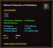 Ethereal Manacles of Meditation