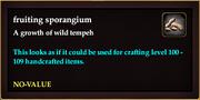 Fruiting sporangium
