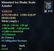 Mounted Ice Drake Scale Amulet
