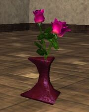 Pink Roses in a Vase (Visible)