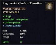 Regimental Cloak of Devotion