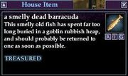 A smelly dead barracuda