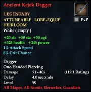 Ancient Kejek Dagger