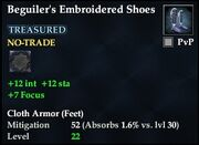 Beguiler's Embroidered Shoes