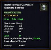 Carbonite Vanguard Barbute