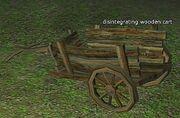 Disintegrating wooden cart