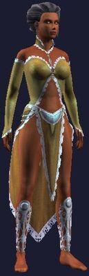 Gold fancy dress (Visible, Female)