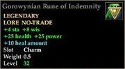 Gorowynian Rune of Indemnity