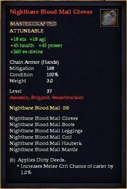 Nightbane Blood Mail Gloves
