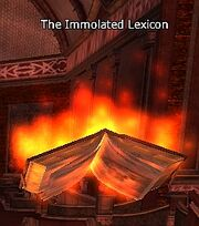 The Immolated Lexicon
