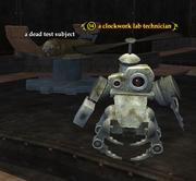 A clockwork lab technician