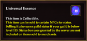 Universal Essence