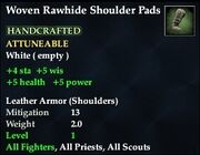Woven Rawhide Shoulder Pads