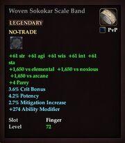 Woven Sokokar Scale Band