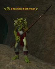A boneblood fisherman