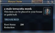 A male terracotta monk