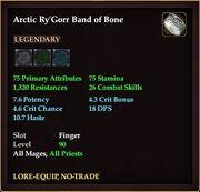 Arctic Ry'Gorr Band of Bone