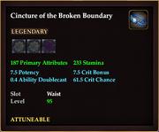 Cincture of the Broken Boundary