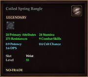 Coiled Spring Bangle