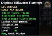 Dupione Silkworm Fistwraps