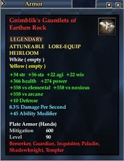 Gnimblik's Gauntlets of Earthen Rock