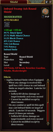 Imbued Swamp Ash Round Shield