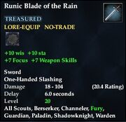 Runic Blade of the Rain