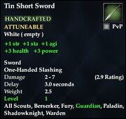 Tin Short Sword