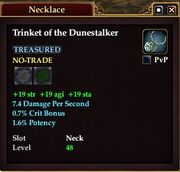 Trinket of the Dunestalker