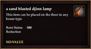 A sand blasted djinn lamp