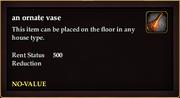 An ornate vase (house item no value)