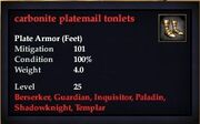 Carbonite platemail tonlets