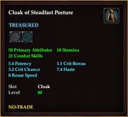 Cloak of Steadfast Posture