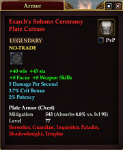 Exarch's Solemn Ceremony Plate Cuirass
