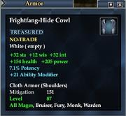 Frightfang-Hide Cowl