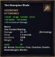 The Stonepine Blade