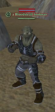A Bloodskull footman