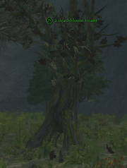 A deathbloom treant