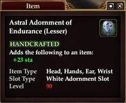 Astral Adornment of Endurance (Lesser)