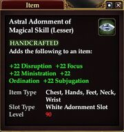 Astral Adornment of Magical Skill (Lesser)