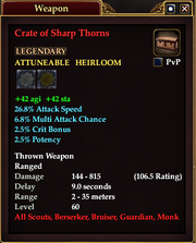 Crate of Sharp Thorns