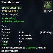 Elm Shortbow