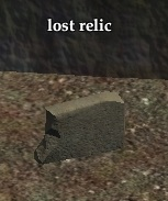 Lost relic object