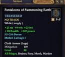 Pantaloons of Summoning Earth