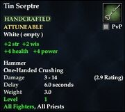 Tin Sceptre