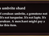 Cerulean umbrite shard