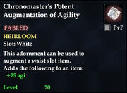 Chronomaster's Potent Augmentation of Agility