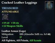 Cracked Leather Leggings