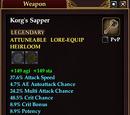 Korg's Sapper