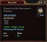 Manacle of the Buccaneer's Deftness